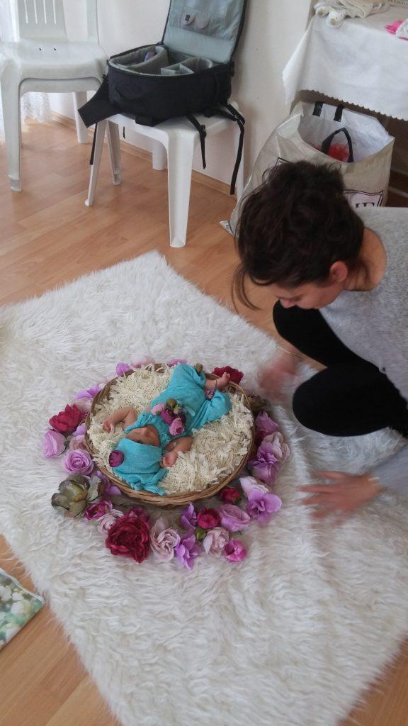 evde yeni doğan çekimi